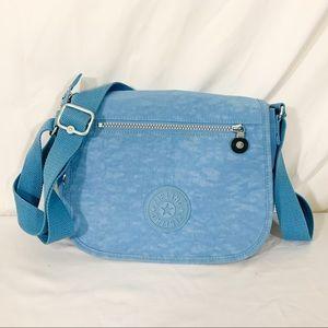 Kipling- blue shoulder strap lots of pockets, bag